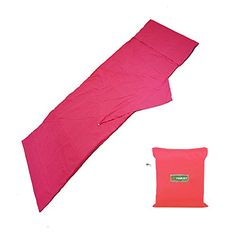 YOURJOY Travel Envelope Sleeping Bag Anti Dirty Splice Sheet for Camping Hiking Hotel with Pillowcase Compact Bag Easy Carry Sack for 1 Person Pink >>> Click image to review more details.(This is an Amazon affiliate link and I receive a commission for the sales)