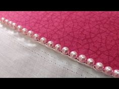 Pearl Embroidery, Hand Work Embroidery, Embroidery Saree, Hand Embroidery Stitches, Embroidery Fashion, Hand Embroidery Designs, Lace Saree Designs, Saree Tassels Designs, Blouse Designs