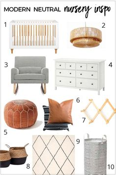 Modern neutral nursery inspiration fit for a boy or a girl. Ikea Nursery, Nursery Themes, Nursery Room, Girl Nursery, Ikea Baby Room, Boho Nursery, Elephant Nursery, Nursery Ideas, Nursery Decor