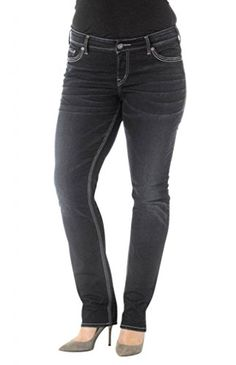 13d1c79631c1 Silver Jeans Women Suki Plus Size Slim Leg Mid Rise Curvy Fit in Dark Blue