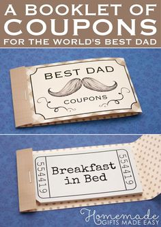 coupons for dad gifts for dad inexpensive homemade christmas