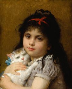 Leon Jean Basile Perrault . Three Cats, Painting For Kids, Children Painting, Cat Colors, Cat Names, Henri Matisse, Siamese Cats, Ancient Egypt, American Art