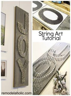 "JOY!! String Art Tutorial ... may just do a ""M"" for gallery call"