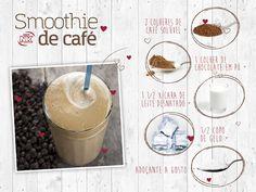 Que tal um smoothie de café? #smoothie #receitas