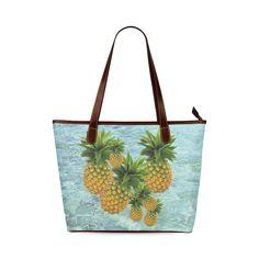 Pineapples Shoulder Tote Bag. FREE Shipping. #artsadd #bags #fruits