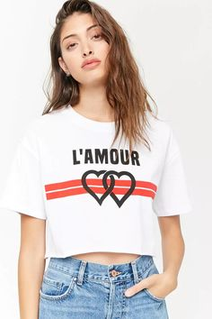 ebbb4a5a39cefd Product Name L Amour Raw-Cut Cropped Tee