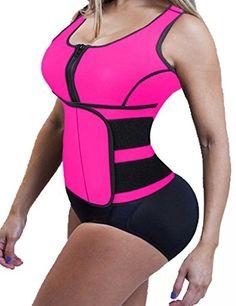 d46b740c6 Lelinta Womens Slimming Neoprene Sauna Suit Tank Top Vest with Adjustable  Waist Trimmer Belt Hot Sweat