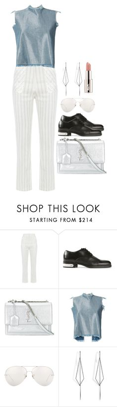 """""""Untitled #1615"""" by she-is-wearing-this ❤ liked on Polyvore featuring FLOW the Label, Diesel Black Gold, Yves Saint Laurent, Marques'Almeida, Linda Farrow, Diane Kordas and Avon"""