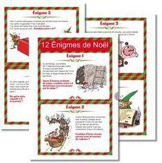 12 énigmes de Noël - mathématiques - cycle 3 - Noël Elf Christmas Decorations, Christmas Games, Christmas Love, Xmas, Merry Christmas, Cycle 3, Montessori Math, Grilling Gifts, Theme Noel