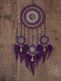 Dream catcher violeta atrapasueños atrapasueños por MyHappyDreams