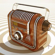Vintage Design, Retro Design, 1950s Design, Retro Radios, Old Time Radio, Industrial Design Sketch, Antique Radio, Sketch Design, Retro Futurism