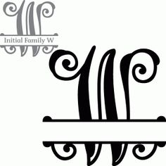 Silhouette Design Store - View Design split initial letter w Cricut Monogram, Free Monogram, Cricut Fonts, Monogram Fonts, Monograms, Silhouette Cameo Files, Silhouette Design, Silhouette Projects, Letter W