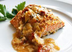 Salmon With Lemon Butter Basil Sauce