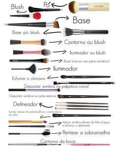Para que serve cada pincel de maquiagem?