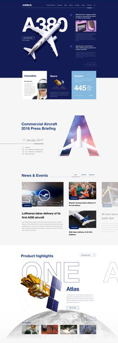 Airbus corporate web estate on behance - web design layout Web And App Design, Minimal Web Design, Web Design Mobile, Online Web Design, Web Design Quotes, Web Design Agency, Web Design Trends, Web Design Company, Grid Web Design