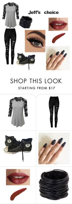 """""""Jeff's choice"""" by bree70475 on Polyvore featuring LE3NO, Converse, TheBalm and Saachi"""