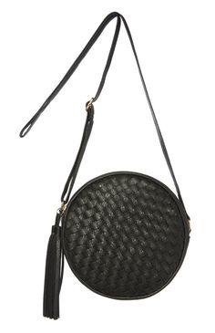 Black Woven Round Cross Body Bag Black Weave, Primark, Cross Body, Crossbody Bag, Amazing, Christmas, Bags, Fashion, Circuit