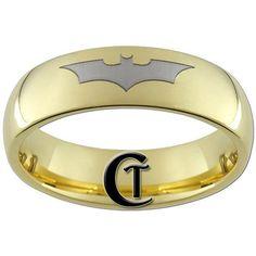 Casamiento nerd con alianzas de batman #Nerd #geek #wedding #bands
