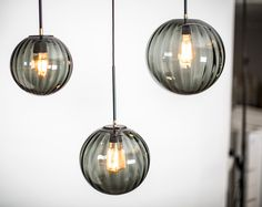 Waldorf pendant with smoked glass by Rubn