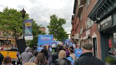 May 15 Hoboken, NJ folks marched thru #hoboken today. #FeelTheBern #StillSanders #NJ votes June 7th! 142 delegates up for grabs!