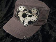 Soccer Mom Patchwork Crystal Vintage Style Cadet by BlingirlSpirit