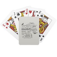 Vermilion Parish Cities and Places Playing Cards This Louisiana themed deck of cards is perfect for any Vermilion Parish resident. Names of cities and roadways form the shape of Vermilion Parish. Practically anywhere in the parish you can go! Background color is easy to change. Design available on other products.