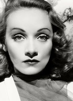 Butterfly - Marlene Dietrich preferred butterfly lighting. Today we still refer to butterfly lighting as Dietrich, or Paramount Lighting