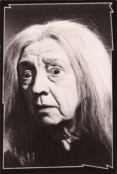 Vintage TV Classsing Addams Family Postcard: Grandmama Addams [Blossom Rock aka. Marie Blake]