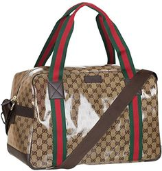 Gucci Beige GG Guccissima Crystal Coated Leather Duffel T…