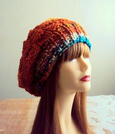 Baggy Knit Hat Beanie Hat Chunky Hat Oversized Slouchy Beanie  #Handmade #Beanie