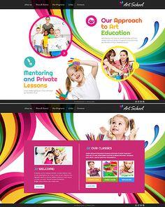 Template 46362 - Art School Website Template
