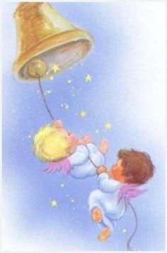 Angel Card Of The Day - AngelWinks Heavenly Post Card Shoppe Vintage Greeting Cards, Vintage Christmas Cards, A Christmas Story, Christmas Pictures, Christmas Angels, Christmas Art, Angel Images, Angel Cards, Christmas Paintings