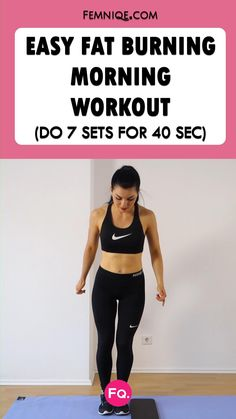 Want a simple and fun fat burning abs workout? Add this to your morning home routine. Morning Workout Routine, Full Body Workout Routine, Workout Routines For Beginners, Abs Workout Routines, Hip Workout, Woman Workout, Yoga Workouts, Workout Plans, Workout Gear