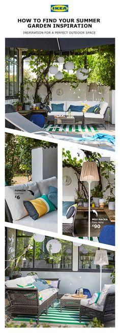 Ideas For Ikea Outdoor Furniture Ideas Patio Ikea Outdoor, Outdoor Dining, Outdoor Spaces, Outdoor Decor, Summer Garden, Home And Garden, Outdoor Furniture Design, Furniture Ideas, Garden Makeover