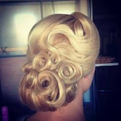 Retro updo, finger waves More