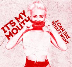 Miley Cyrus lyric art