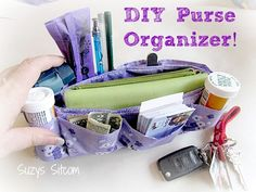 Easy to make DIY Purse Organizer!