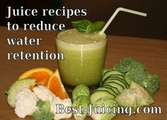 Beat bloating and water retention with these #juice recipes and tips. Recipes for Clean Green Juice, Bloating Buster Juice and Craving Crusher Juice. Enjoy!