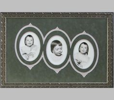 This is a very creative way to frame these vintage photos. Such cute little ladies!   #photography #framing #decor