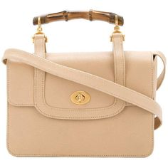 fd609f012 Gucci Nude Leather Bamboo Kelly Top Handle Satchel Evening Flap Shoulder Bag  | From a collection. 1stdibs.com