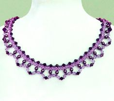 Free pattern for necklace Fatima  Click on link to get pattern - http://beadsmagic.com/?p=6460