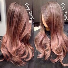 Rose-brown hair color. guytang: Custom color for my client @jenn_bunny83 #guytang #hairgasm #guytanghair