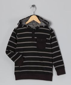 Take a look at this Black Stripe Hoodie - Toddler & Boys by Panyc on #zulily today!