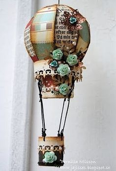 I need to make me one of these - hot air balloon