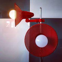 "Polubienia: 11, komentarze: 1 – modern (@modern_old2new) na Instagramie: ""Red German floor lamp #red #germany #german #metal #plastic #two #shades #perforated #chrome…"" Mid Century Modern Lamps, Floor Lamp, Mid-century Modern, Chrome, Germany, Home Appliances, Bulb, Shades, Plastic"