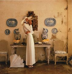 Appollonia van Ravenstein, photographed by Norman Parkinson for Vogue UK, 1973.