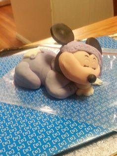 Sleeping Mickey cake topper Mickey Cakes, Cake Toppers, Sleep, Catfish