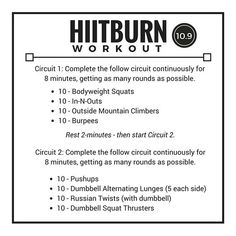 Your Workout Library (@hiitburn) • Instagram photos and videos