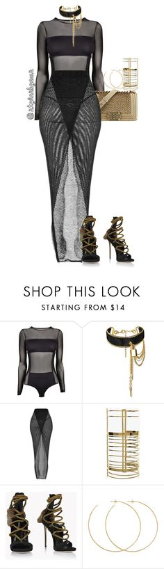 """""""Kim K Inspo"""" by stylesbyems ❤ liked on Polyvore featuring By Malene Birger, Chanel, Balmain, Dsquared2 and Allison Bryan"""