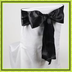 Free shipping  black  wedding satin chair sash for chairs wholesale cheap